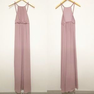 Show Me Your Mumu Mauve Amanda Maxi Dress Rose XS